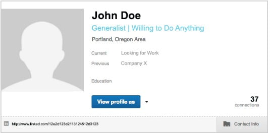 John Doe's LinkedIn Profile